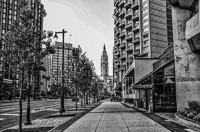 Photograph - The Parkway In Black And White - Philadelphia by Bill Cannon