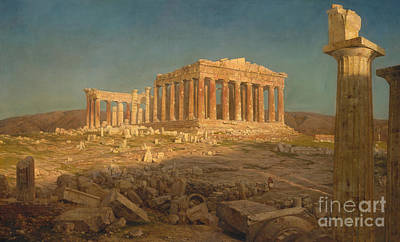 Masonry Painting - The Parthenon, 1871 by Frederic Edwin Church