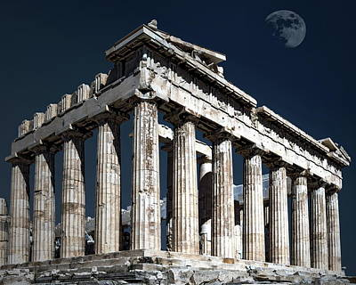 Photograph - The Parthenon At Twilight by Anthony Dezenzio