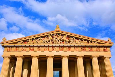 The Parthenon In Nashville Tennessee  Art Print