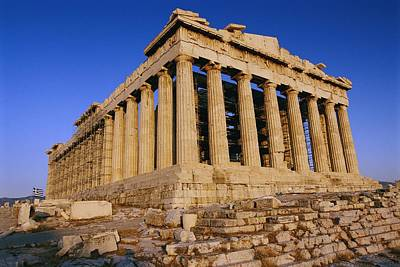 Athens Ruins Photograph - The Parthenon, Its Ancient Colonnades by Todd Gipstein