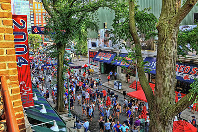 Photograph - The Party Before The Game - Fenway Park by Allen Beatty