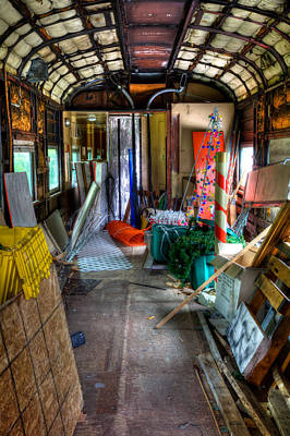 The Party Is Over In The Rail Car Art Print
