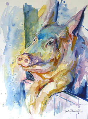 Painting - The Party Pig by P Maure Bausch