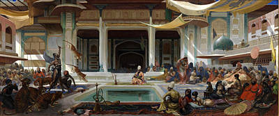 Painting - The Pasha's Entertainment by Paul Marie Lenoir