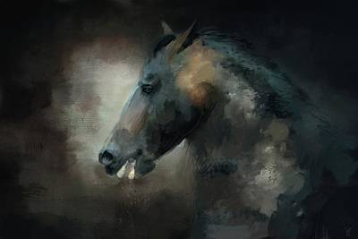 Painting - The Paso Fino 1 Horse Art by Jai Johnson