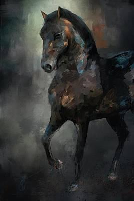 Painting - The Paso Fino 3 Horse Art by Jai Johnson