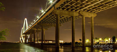 Island Stays Photograph - A Great Passageway Arthur Ravenel Jr Bridge Charleston South Carolina by Reid Callaway