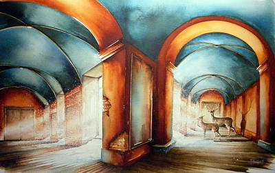 Architectur Painting - The Passengers by Fabien Petillion