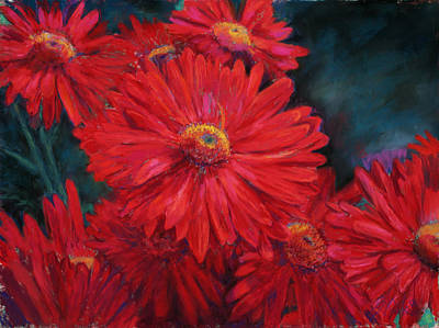Mums Painting - The Passion Of Red by Billie Colson