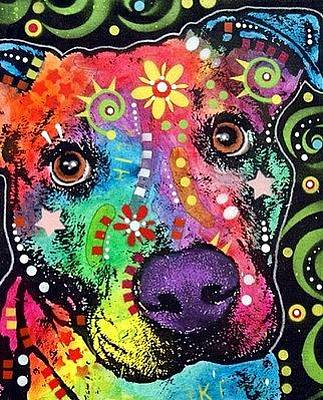 Pit Bull Mixed Media - The Passion Pit by Dean Russo