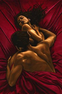 Nude Wall Art - Painting - The Passion by Richard Young