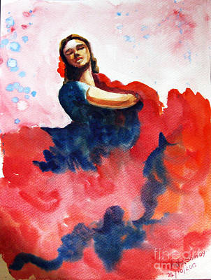 Painting - The Passionate Dancer by Asha Sudhaker Shenoy