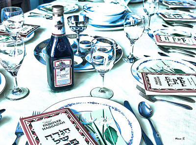Photograph - The Passover Table by Nina Silver