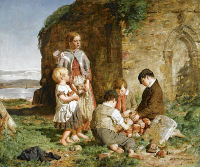 William Mctaggart Painting - The Past And The Present by William McTaggart