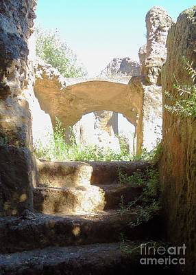 Photograph - The Past Beckons In Roman Ruins by Barbie Corbett-Newmin