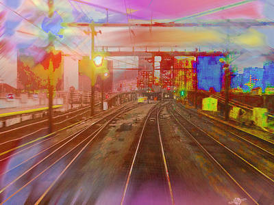 Painting - The Past Train 3 by Tony Rubino