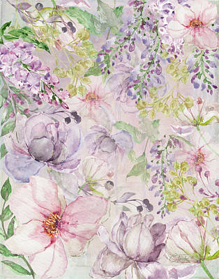 Mixed Media - The Pastel Garden by Colleen Taylor