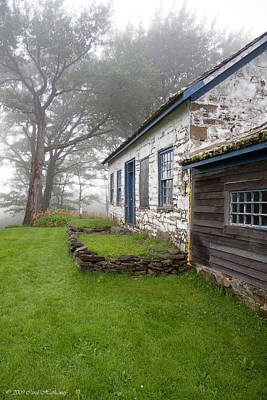 Pastors Photograph - The Pastor's House On A Foggy Afternoon by Carol Hathaway
