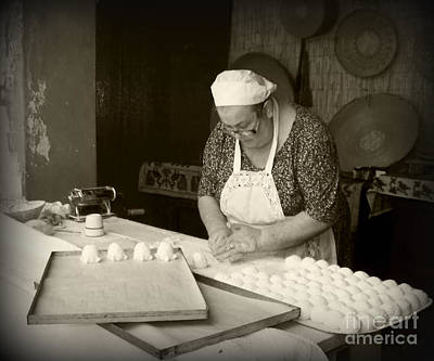 The Pastry Maker, Sardinia Art Print
