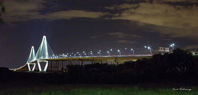 Island Stays Photograph - The Path Above The Ships Arthur Ravenel Jr Bridge Charleston South Carolina by Reid Callaway