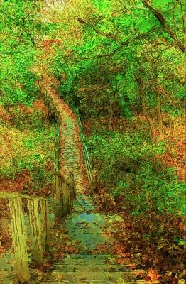 Digital Art - The Path - Allaire State Park by Angie Tirado