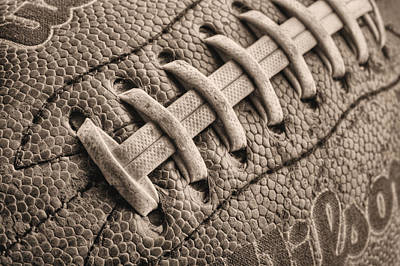 Footballs Closeup Photograph - The Path Bw by JC Findley