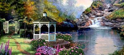 Gazebo Painting - The Path Least Fallowed 2 by Ron Chambers