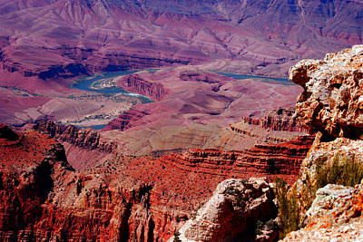 The Path Of The Colorado River Art Print by Susanne Van Hulst