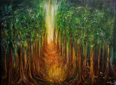 Sun Rays Painting - The Path Of Transformation by Solveig Katrin