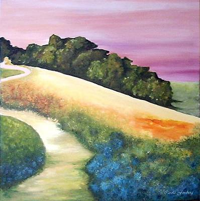 Painting - The Path Over The Hill by Carola Ann-Margret Forsberg