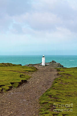 Photograph - The Path To Godrevy Lighthouse Cornwall by Terri Waters