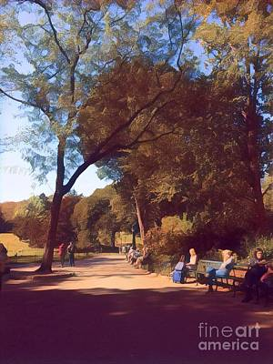 Photograph - The Path To Serenity - A Peaceful Day In The Park by Miriam Danar
