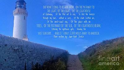 Photograph - The Path To The Lighthouse With Poem by Joan-Violet Stretch