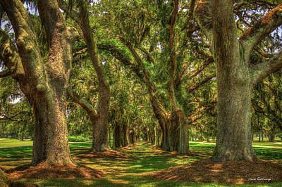 The Pathway Shadows Avenue Of Oaks Sea Island Golf Club St Simons Island Georgia Art Art Print by Reid Callaway