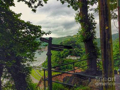 Photograph - The Pathway To Lynton by Joan-Violet Stretch