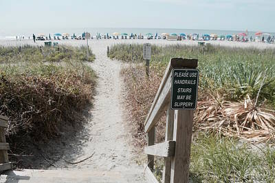 Ocean Photograph - The Pathway To The Beach by Sontia Hall