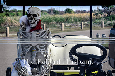 Photograph - The Patient Husband Waiting In The Golf Cart by Debra Martz
