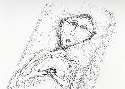 Drawing - The Patient by Jim Taylor