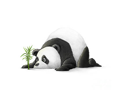 The Patient Panda Art Print