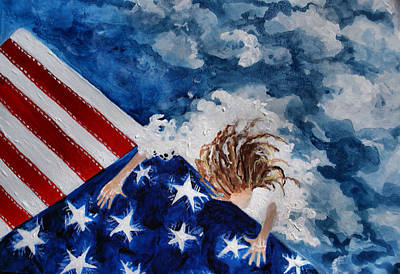 The Patriot Returns Home Art Print by Mary Sonya  Conti