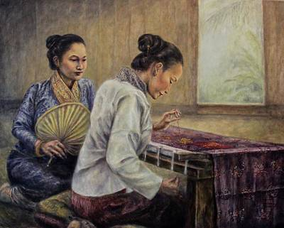 The Patron And Embroiderer Original