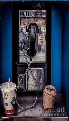 Photograph - The Pay Phone In Nola by Kathleen K Parker