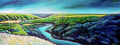 Wall Art - Painting - The Peace By Bear Flats  by Alison Newth