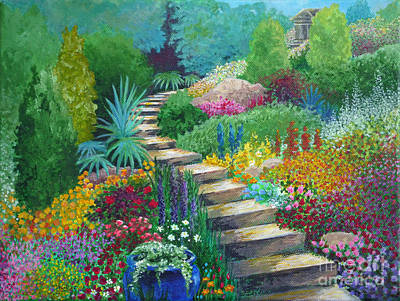 Painting - The Peaceful Path by Julia Underwood