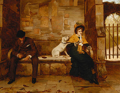 Puppy Lover Painting - The Peacemaker by Edwin Hughes