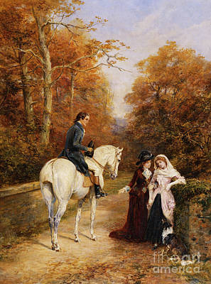 Painting - The Peacemaker by Heywood Hardy