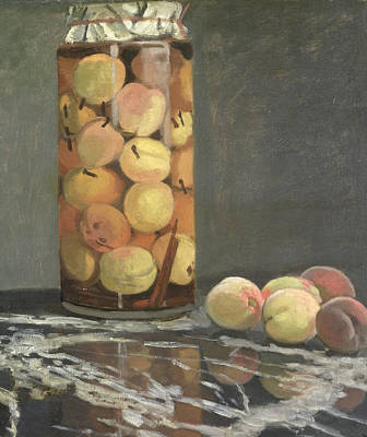 Peach Painting - The Peach Glass by Claude Monet