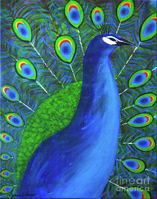 Painting - The Peacock  by Nadine Larder