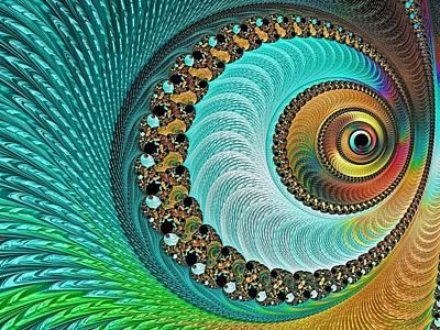 Digital Art - The Peacock's Eye by Susan Maxwell Schmidt